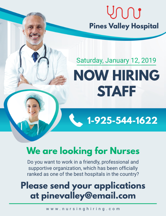 Now Hiring Nursing Professionals Advert