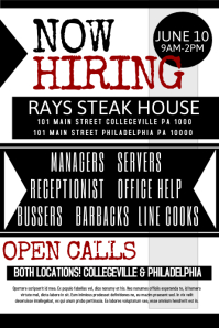 Now Hiring And Now Hiring Flyer Template