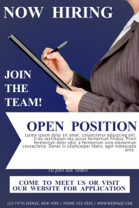 now hiring template flyer