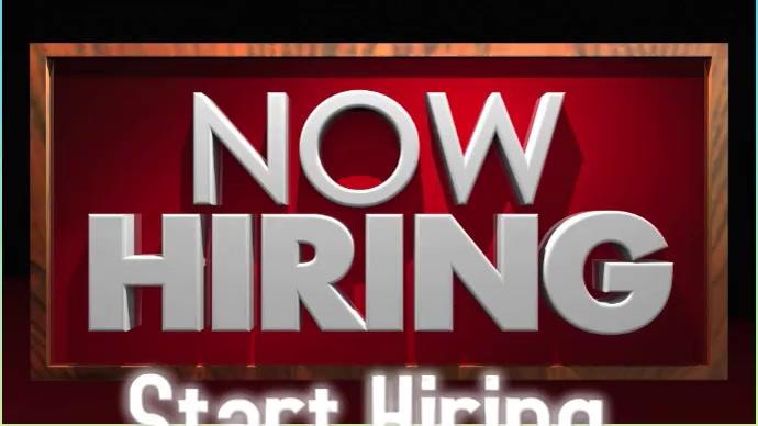 Now hiring sign bord Foto de Portada de Canal de YouTube template