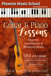 guitar & piano lessons template