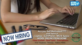 Now Hiring Work from Home Digital na Display (16:9) template