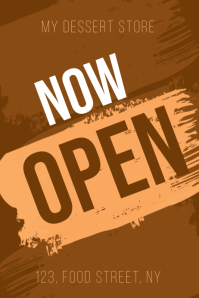 now open small business flyer