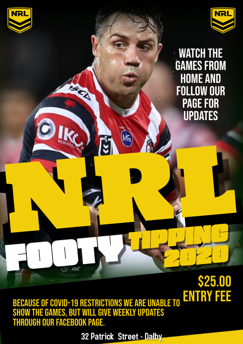 NRL Rugby football A1 template