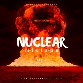 Nuclear Mixtape CD Cover Template
