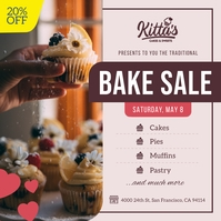 Nude Bake Sale Instagram Image template