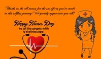 Nurse Day Etykietka doczepna template
