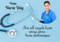 nurse day Postcard template