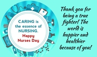 Nurse Day Etiqueta template