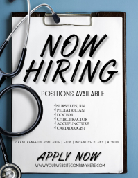 Nurse Doctor Hiring Ads Flyer Ad template
