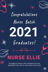 Nurse graduation banner template