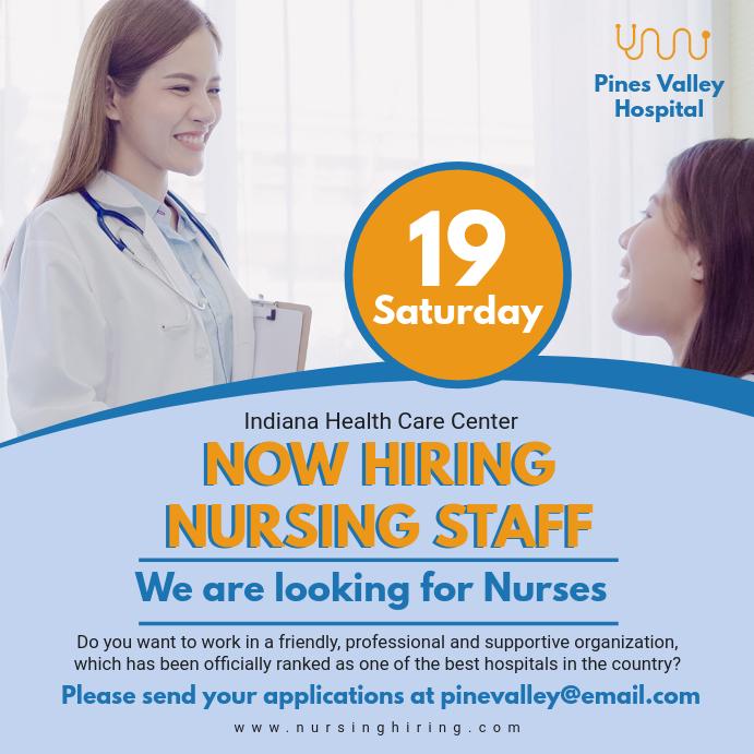 Nurse Hiring Advertisement Template