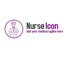 Nurse icon app or logo
