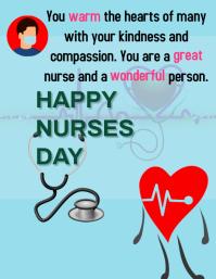 nurses day Løbeseddel (US Letter) template