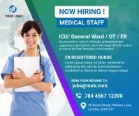 Nurses hiring Large Rectangle Retângulo grande template