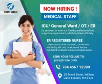 Nurses hiring Medium Rectangle สามเหลี่ยมขนาดกลาง template