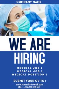 nurses hiring poster