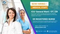 Nurses hiring social Blog Header Заголовок блога template