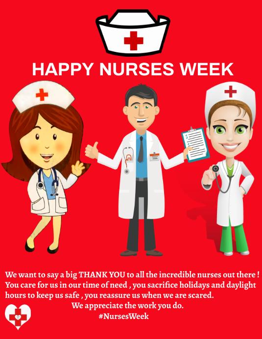 nurses week flyer template