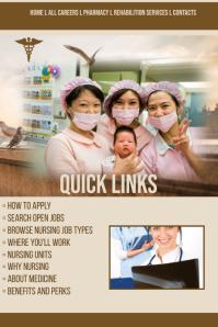 nursing Career Website Template