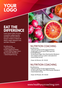 Nutrition Coaching Health Food Ad Flyer Desig A4 template