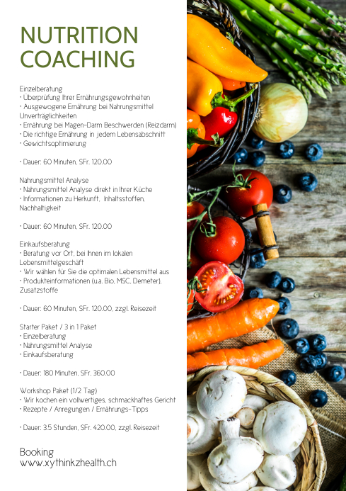 Nutrition counselling Coaching Health Food Ad