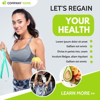 Nutritionist and personal trainer advertisin Instagram Post template