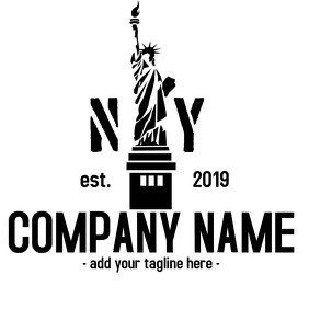 NY black and white logo