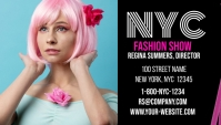 NYC Fashion Show Business Card template