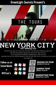 NYC Tours Poster template
