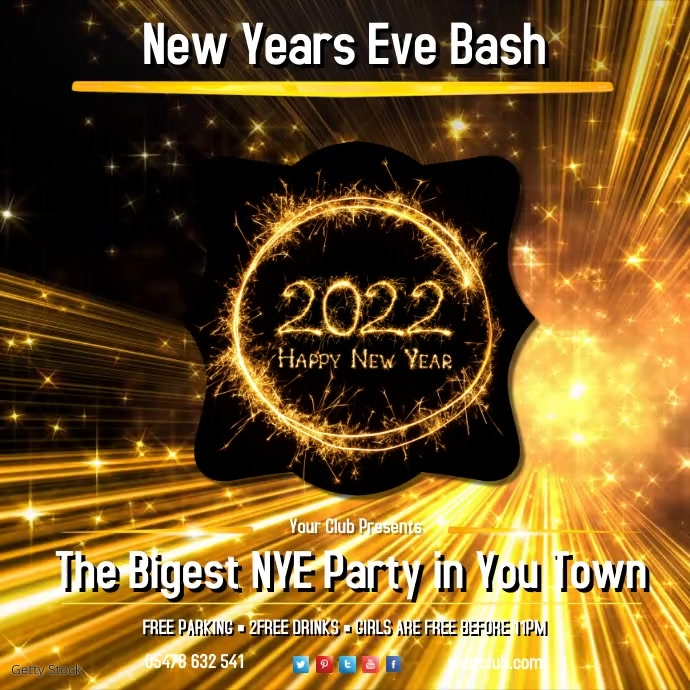 NYE Bash Video Template
