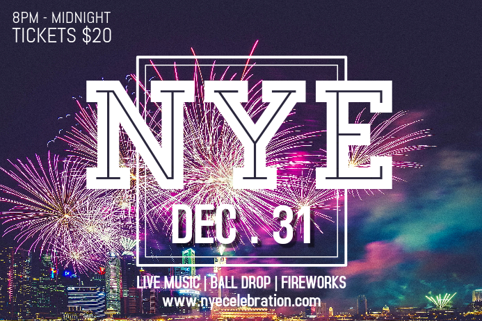 NYE Club Party Poster Design