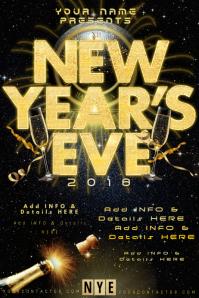 NYE New Years Eve Celebration Clock Countdown Midnight Ball