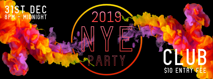 NYE Night Club Party Facebook Banner