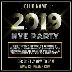 NYE Party Instagram Post