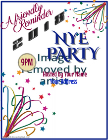 NYE Party Reminder Flyer