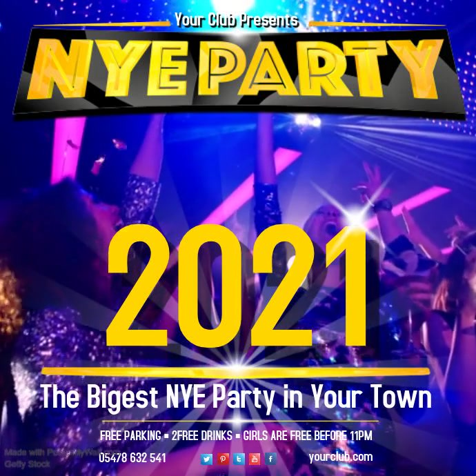 NYE Party Video Template