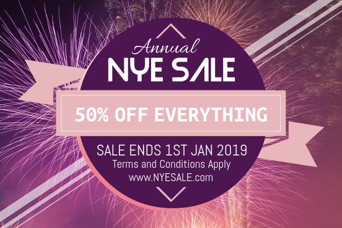 NYE Sale Poster Advertisement