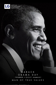 Obama Day Poster Template Póster