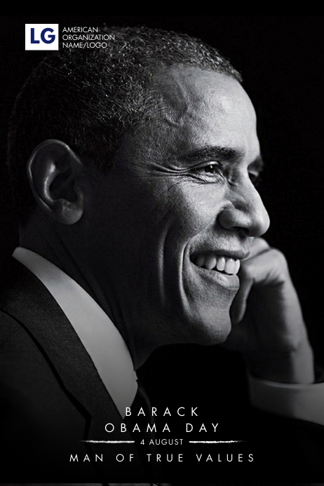Obama Day Poster Template