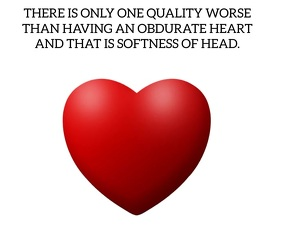 OBDURATE HEART QUOTE TEMPLATE Średni prostokąt