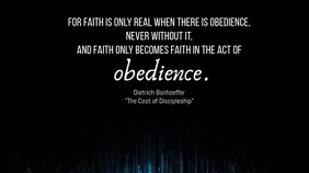 Obedience Poster 数字显示屏 (16:9) template