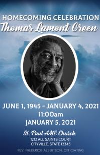 Obituary celebration of life funeral program