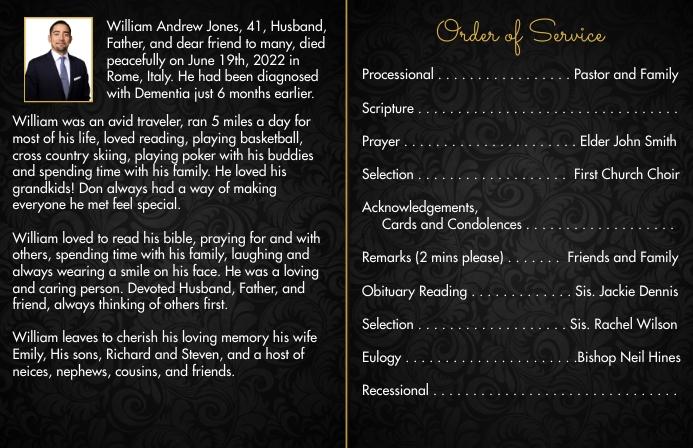 Obituary Cover | Inside 1 of 2 Tabloid (Таблоид) template