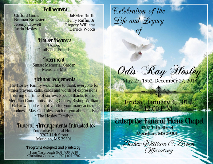 Obituary Template | PosterMyWall
