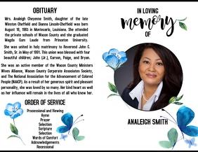 Obituary Design Template Flyer (format US Letter)