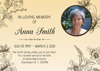 Obituary Poster Template Postkort