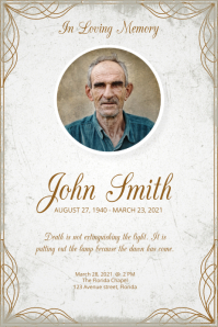 obituary poster template