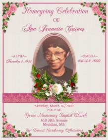 Obituary Program