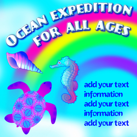 Ocean expedition for all ages, digital template